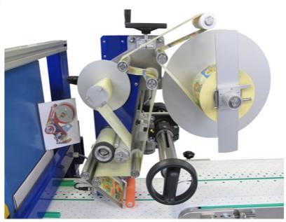 Eine Etikettiermaschine für Cellophanbeutel